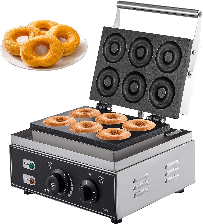 VEVOR Máquina para Hacer Donuts o Rosquillas Maquina de Donuts Máquina de Hacer Rosquillas Maquina de Rosquillas Máquina de Donuts y Cookies Comercial 1550W