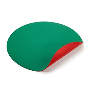 DiversiTech Reversible Christmas Tree Stand Mat Accessory for Floor Protection, Red and Green, 30 inches