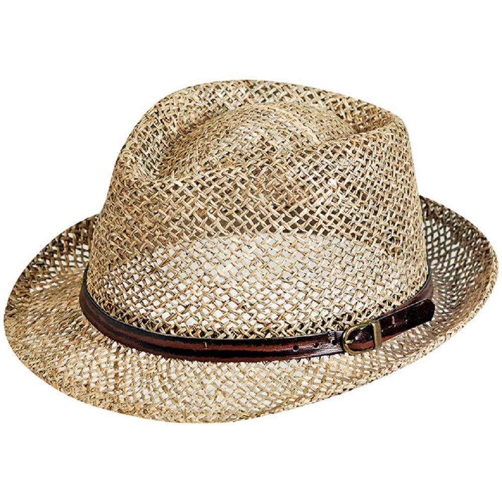 Großer Damenhut in 2 Farben mit Muschel Dekor Hüte Hut Sommerhut Strandhut