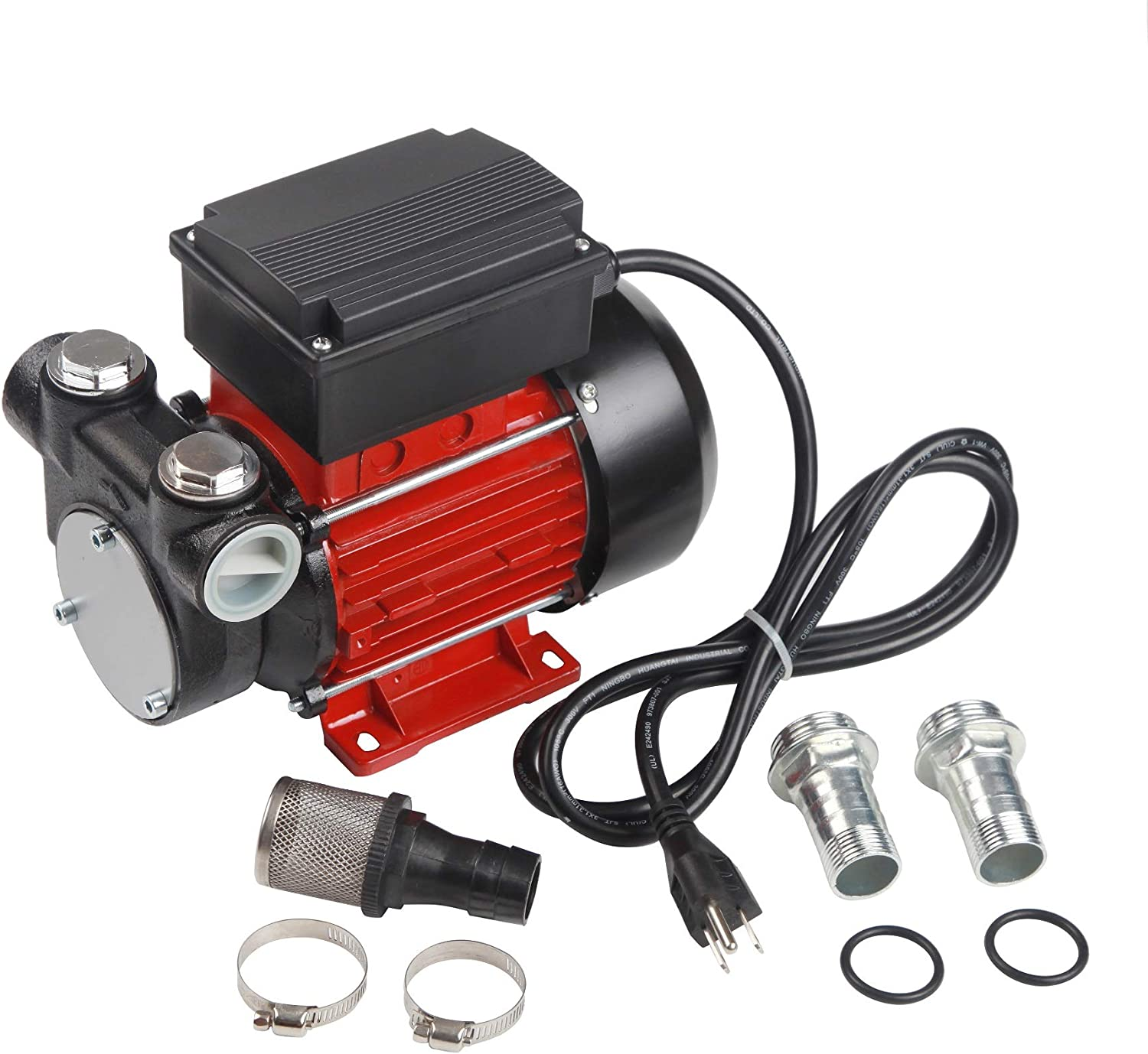 Trupow 110V AC 15GPM Electric Self-priming Diesel Kerosene Oil Fuel Transfer Extractor Pump