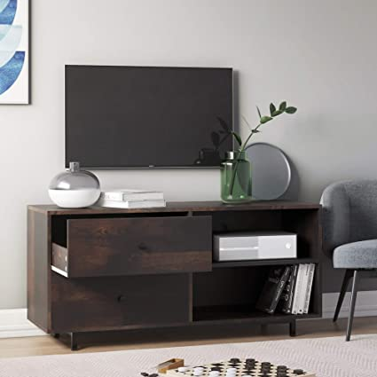 Nathan James Tora Tv Stand Media Wooden Console Oak Finished Drawers 46 Nutmeg Brown Amazon In Home Kitchen