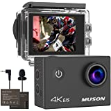 Action Camera 4k 30M Deep Underwater Camera Ultra HD WiFi, Muson M10 2.0-inch LCD Monitor 1050mAh Battery HDMI Output Motion Camera for Bicycle/Motorcycle Sports Camera