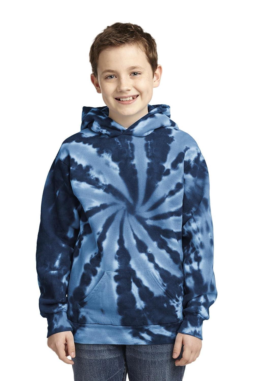 Port /& Company Boys Essential Tie Dye Pullover Hooded Sweatshirt