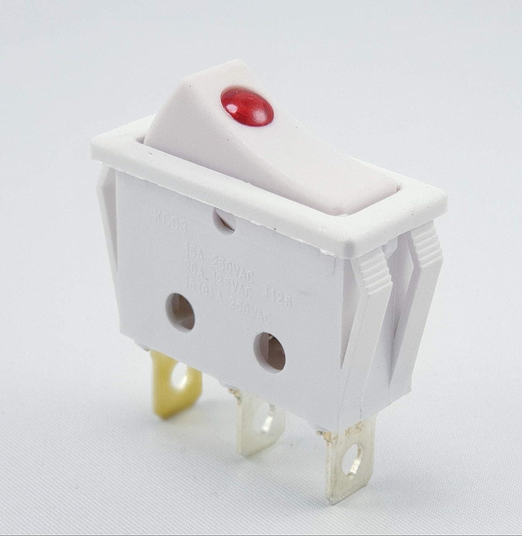 REV Ritter 09123 instalaci/ón-interruptor basculante de colour blanco
