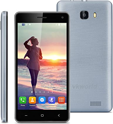 vkworld T5 5,0 IPS de 3 G Smartphone Android 5.1 Quad Core 1.3 GHz Dual SIM, sin Contrato 2 GB RAM + 16 GB ROM Smart Wake GPS WiFi Gris: Amazon.es: Electrónica