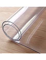 Gorgebuy Mantel transparente transparente de PVC, protector de la tabla personalizable, prueba de la