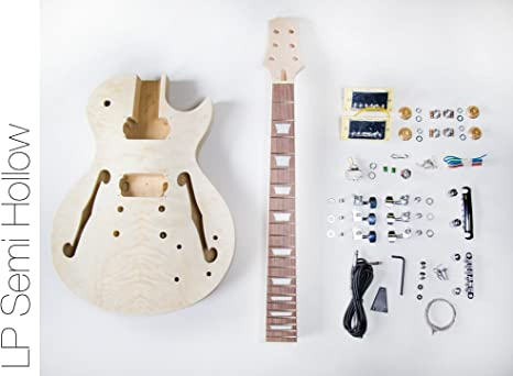 DIY Kit de guitarra eléctrica? LP Semi hueca construir su propio ...