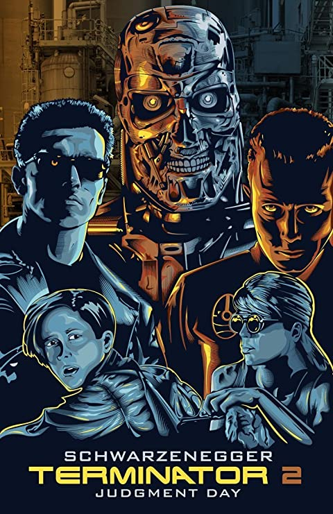 Hollywood Movie Poster Terminator 2 Fan Art Large Poster 24 X 34 Inches For Home Office Decoration By Tallenge Amazon In Home Kitchen