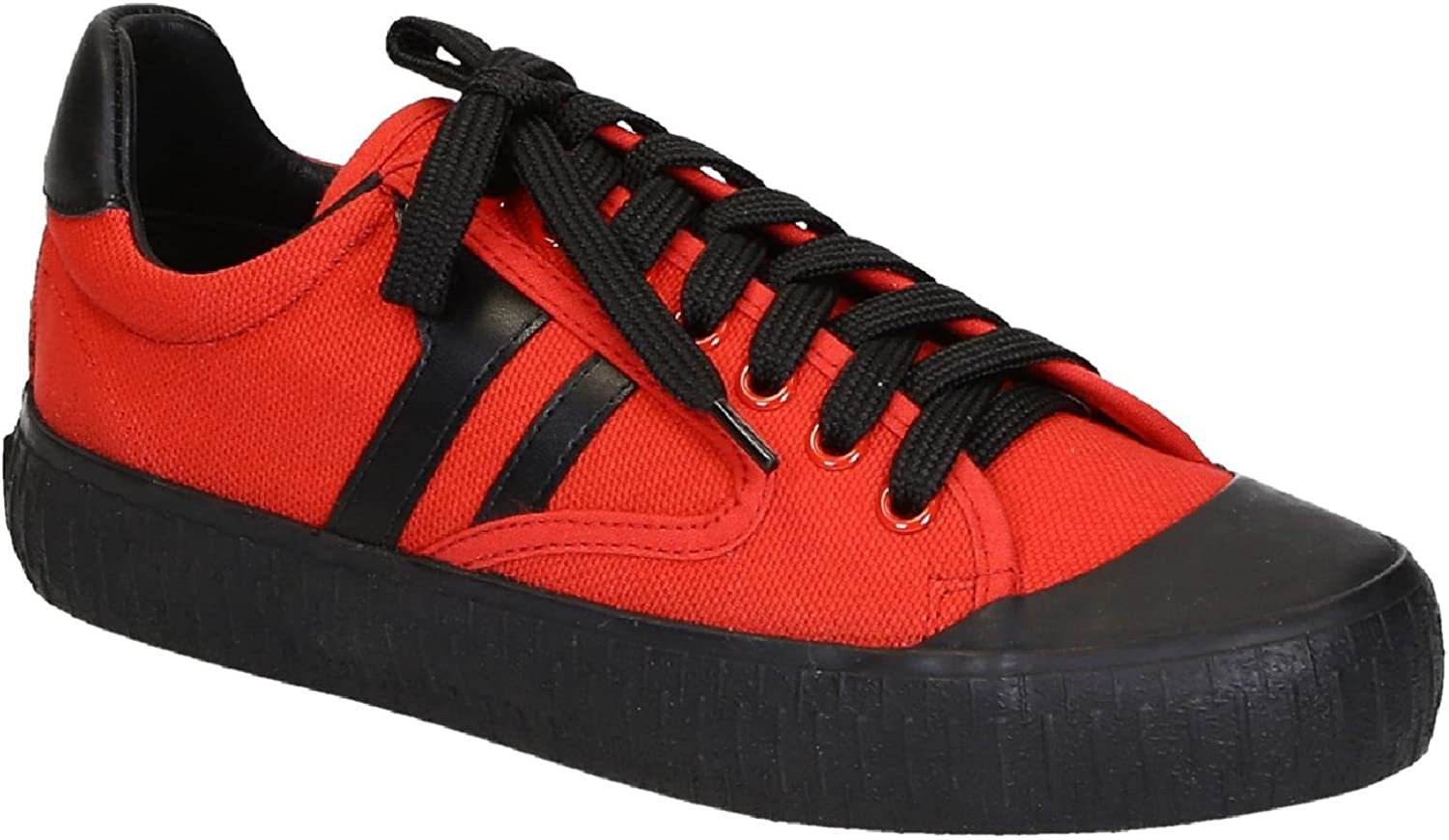 Red Canvas Sneakers Shoes