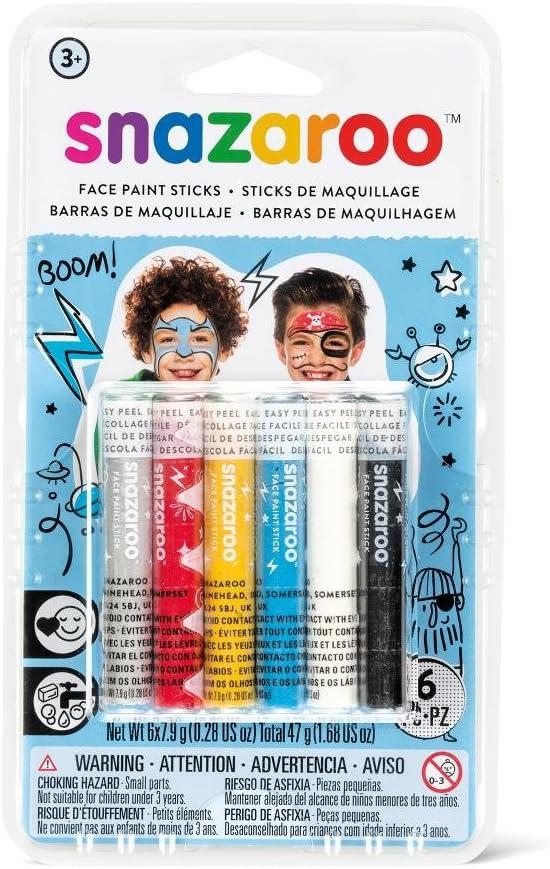 Snazaroo - Barras de pintura facial para chicos, set de 6: Amazon.es: Juguetes y juegos