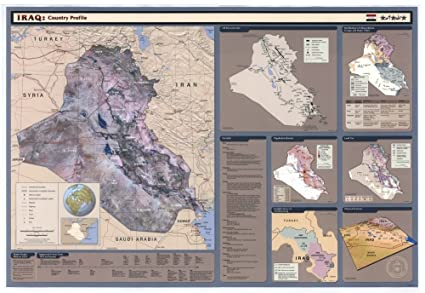 Amazon com: 2003 map Iraq country profile|Size 16x24 - Ready