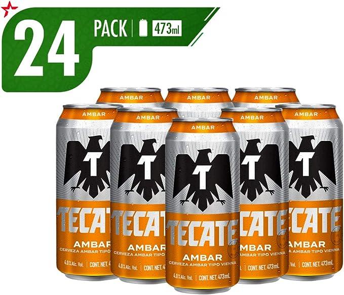 Cerveza Tecate Ambar 24 Pack Lata 473 Ml Amazon Com Mx Alimentos