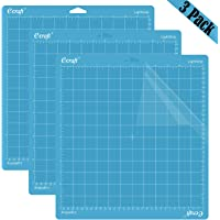 """Ecraft 12""""X12"""" Light Grip Cutting Mat for Cricut Explore One/Air/Air 2/Maker(3 Pack) Adhesive&Sticky Flexible Square…"""