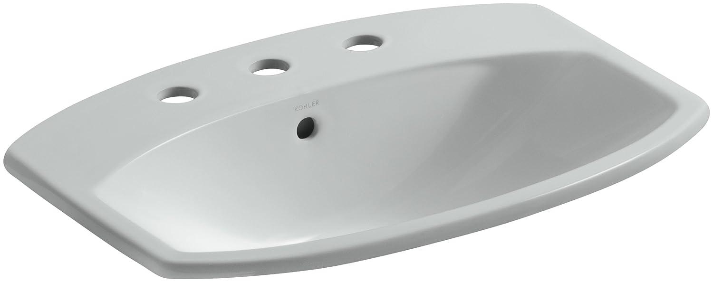 Marvelous KOHLER K 2351 8 0 Cimarron Self Rimming Bathroom Sink, White   Bathroom  Sinks   Amazon.com