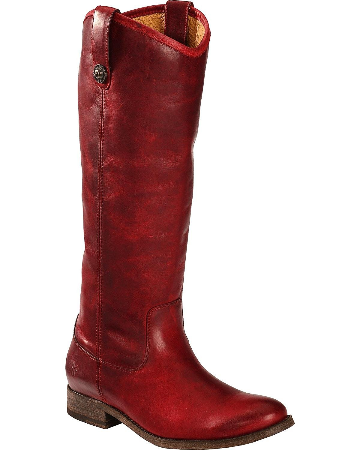 FRYE Women's Melissa Button Boot B00IMIDMSY 6 B(M) US|Burgundy Washed Antique Pull Up