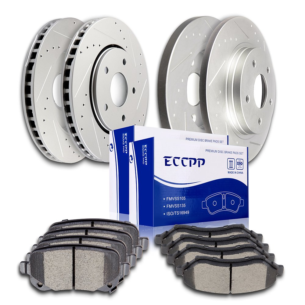 See Desc 09 10 11 12 VW Routan OE Replacement Rotors w//Ceramic Pads R