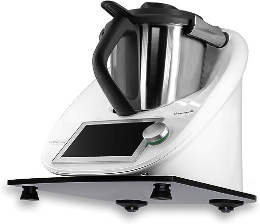 Stone4Slide Tabla Antideslizante Thermomix de Cristal acrílico Negro para Robot de Cocina: Amazon.es: Hogar