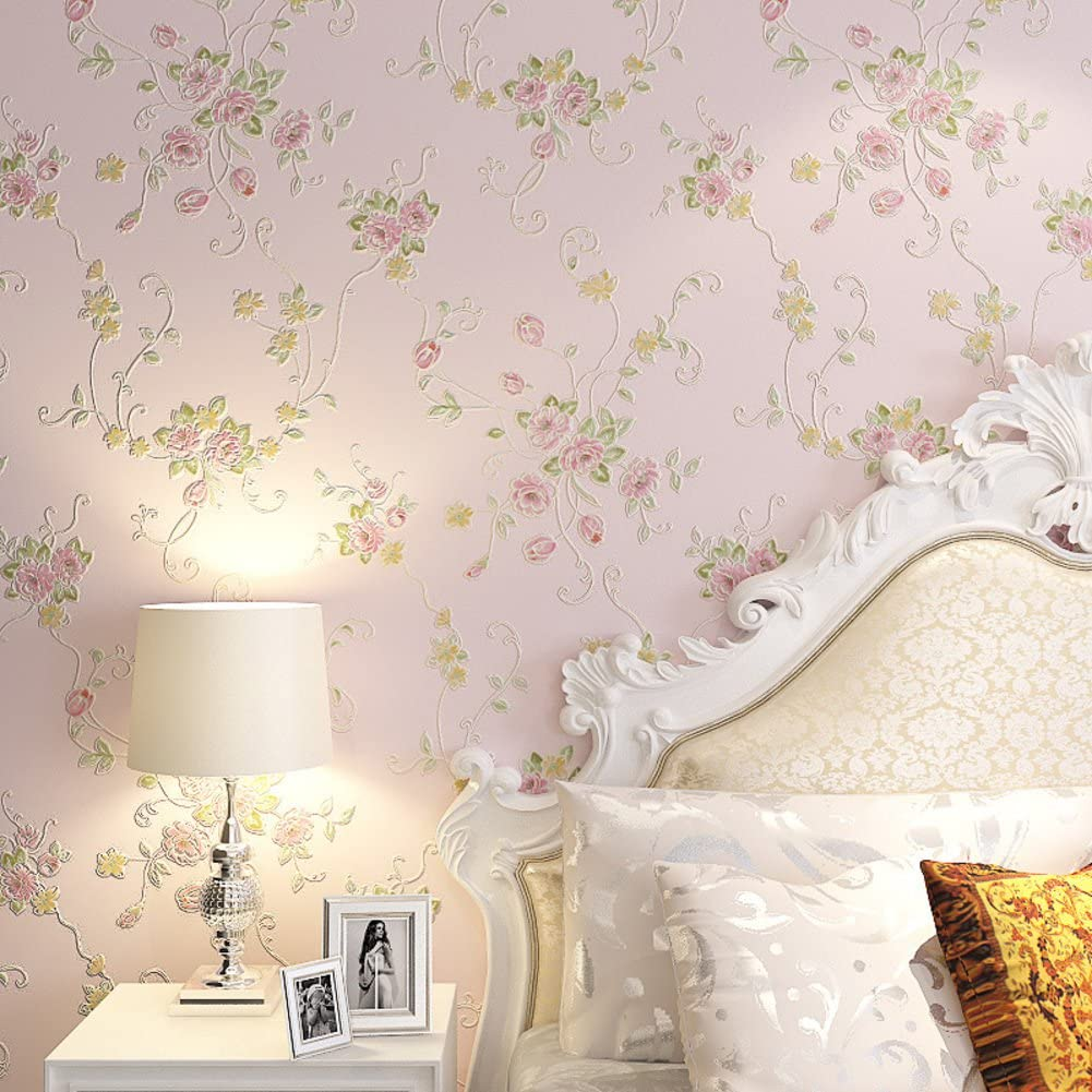 Continental Pastoral Wallpaper 3dthree Dimensional Non Woven