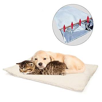 GingerUP - Alfombra de Cama para Mascotas, Gatos, Auto calefacción, para Mascotas, Perros y Gatitos para Viajes o casa, Color Blanco: Amazon.es: Productos ...