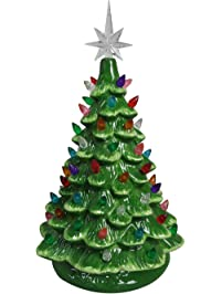 relive christmas is forever lighted tabletop ceramic tree 145 green treemulti color - Mini Christmas Tree With Lights