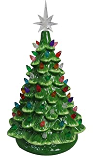 Luxury Illuminated Tabletop Ceramic Christmas Trees