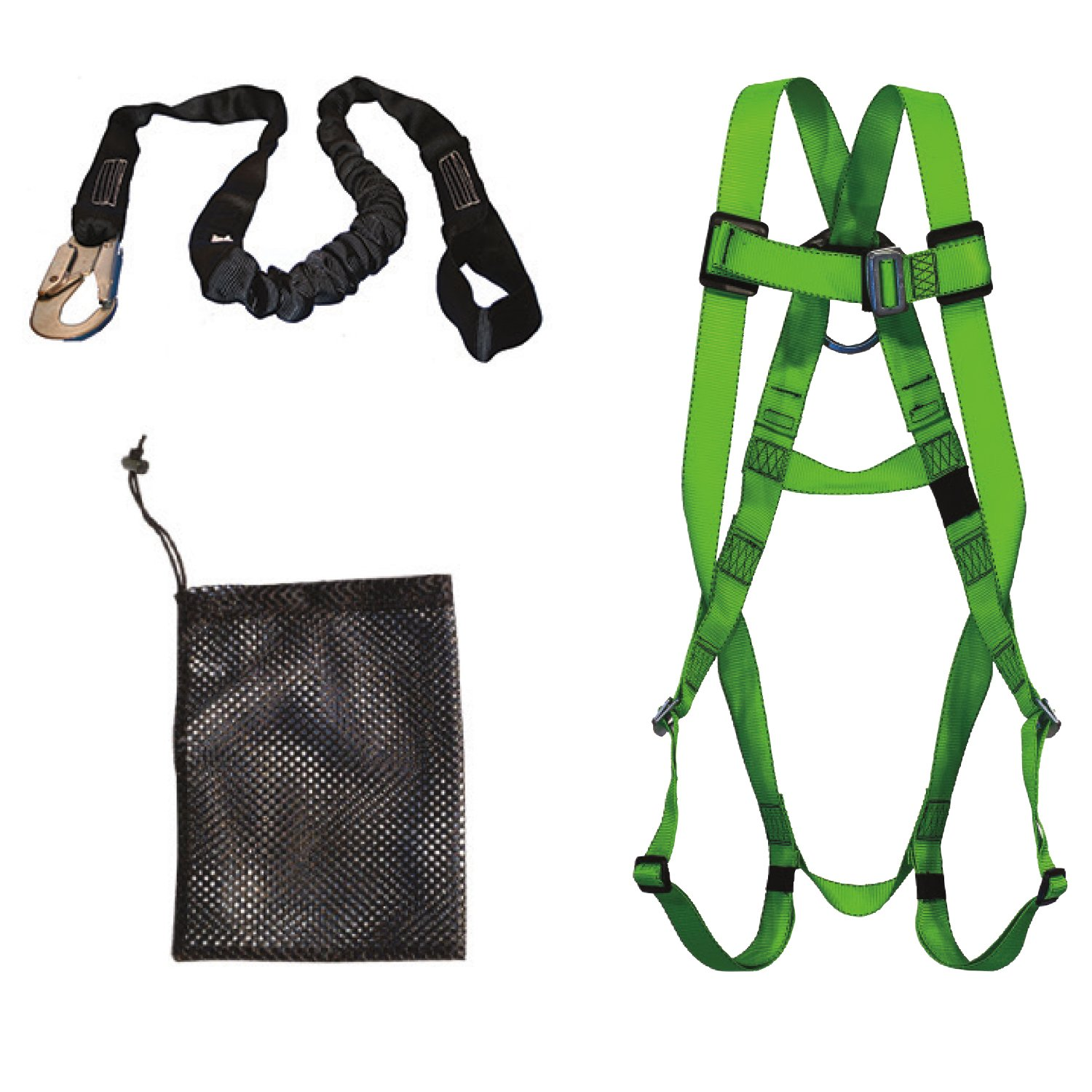 PeakWorks V8252096 - Compliance Fall Protection Kit - 6' (1.8) POY Lanyard - Safety Harness