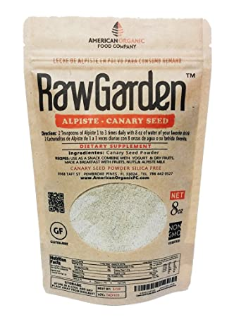 Amazon.com: Raw Garden Alpiste Canary seeds 8 OZ For Human ...