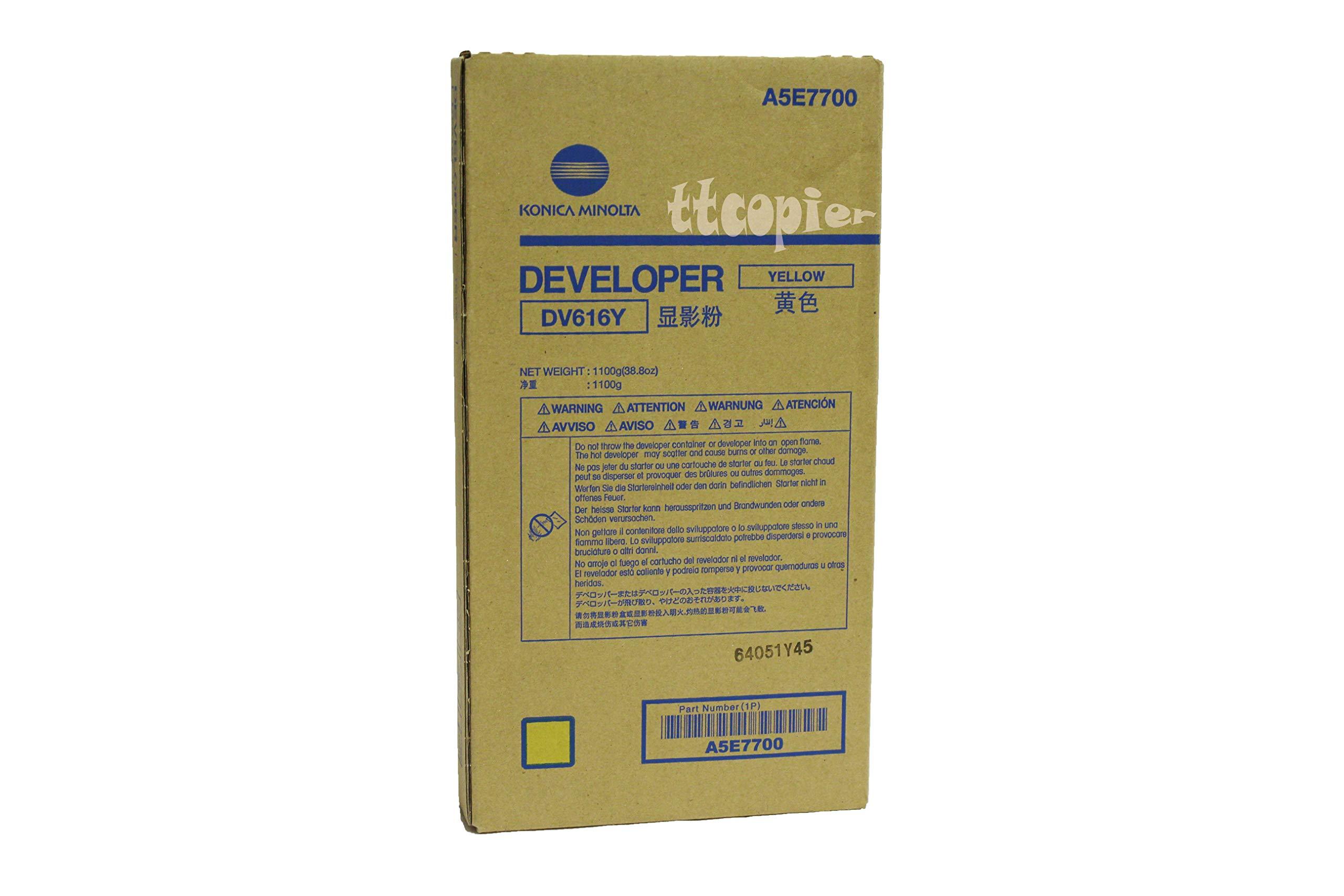 Genuine Konica Minolta A5E7700 DV616Y Yellow Developer for C1085 C1100