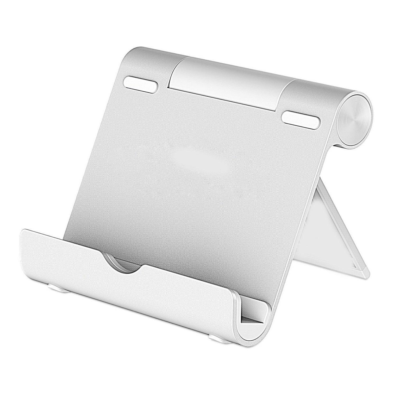 Samsung Galaxy Tab fuego Tablet superficie E-Book/ Tablet soporte /Plata iPad soporte: Soporte de escritorio de aluminio Tablet soporte Universal Dock para iPad Pro//Ipad Air//Air 2