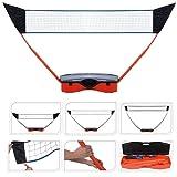 Multi Sports Portable Pop Up Post Net Garden Set - 3 Nets for Volleyball, Tennis, Badminton