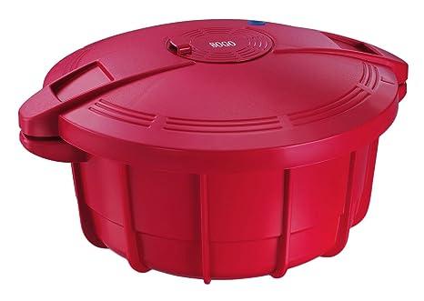 SOGO Olla a Presión, Rojo, 31 cm