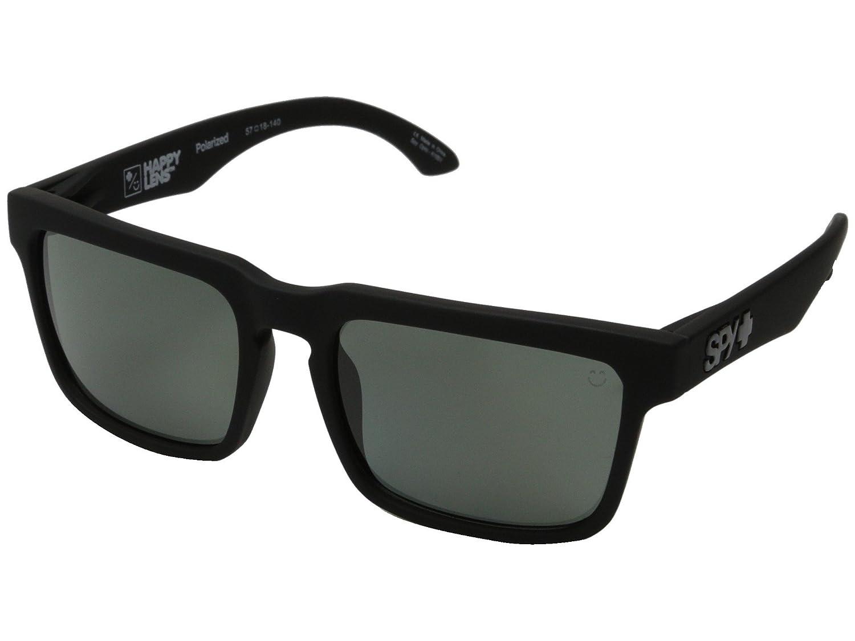 Spy Helm サングラス マットブラック グレーグリーン偏光レンズ ステッカー付き   B078FY42KH