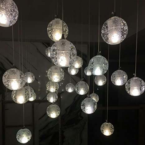 Injuicy vintage industrial magic clear bubble crystal ball pendant injuicy vintage industrial magic clear bubble crystal ball pendant lamp g4 led globe pendant ceiling light aloadofball Image collections