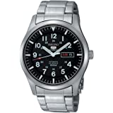 Seiko 5 AutomaticBlack Dial Stainless Steel Mens Watch SNZG13K1