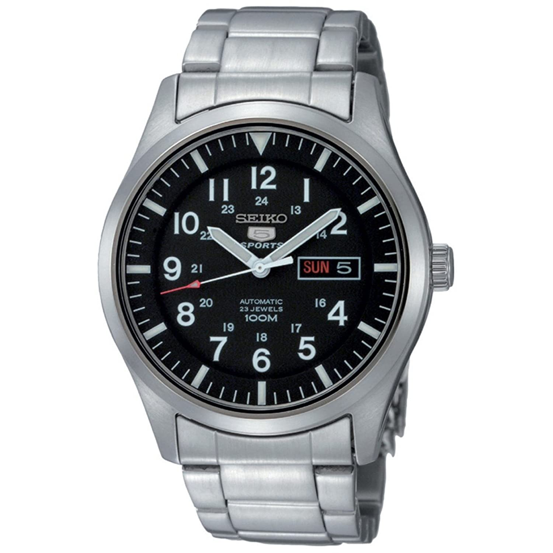 5c01f9ba21d4 Seiko Reloj Analógico Automático para Hombre con Correa de Acero Inoxidable  – SNZG13K1