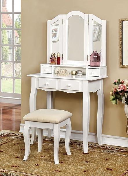 Amazon.com: Margery Girls Bedroom 3 Piece Set Vanity Table ...