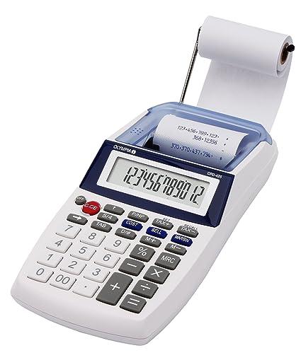Olympia CPD 425 - Calculadora con impresión, pantalla LCD de 12 dígitos (119,9 x 102,2 x 45,7 mm)