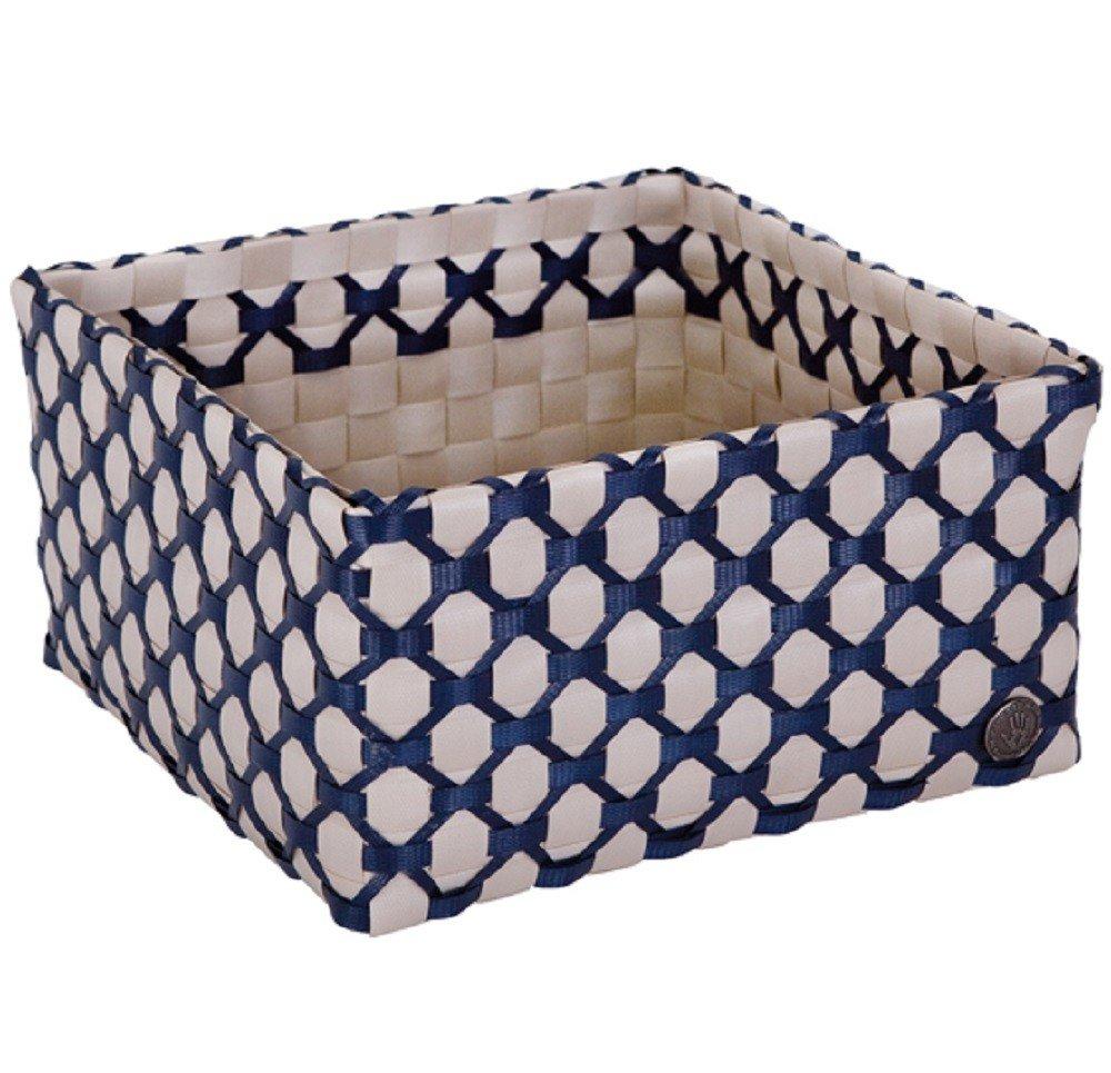 HANDED BY Box ALBI LIMOGES Korb Deko Schachtel Aufbewahrung hell grau dunkelblau