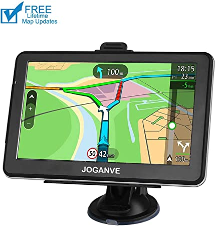 GPS Navigation for car, 7-inch High-Definition Display 256MB-8GB Real Voice Broadcast Route Top oading US map Lifetime Map Free Update