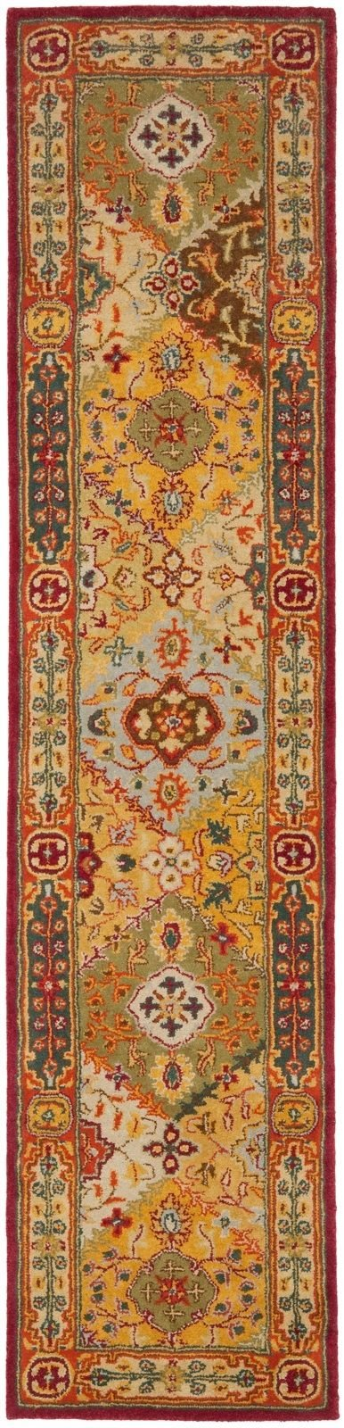 2'3'' x 12' Runner Safavieh Rug HG512A-212 Hand Tufted India ''Heritage Collection''