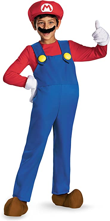 Amazon Com Mario And Luigi Kids Costume Mario Red Blue
