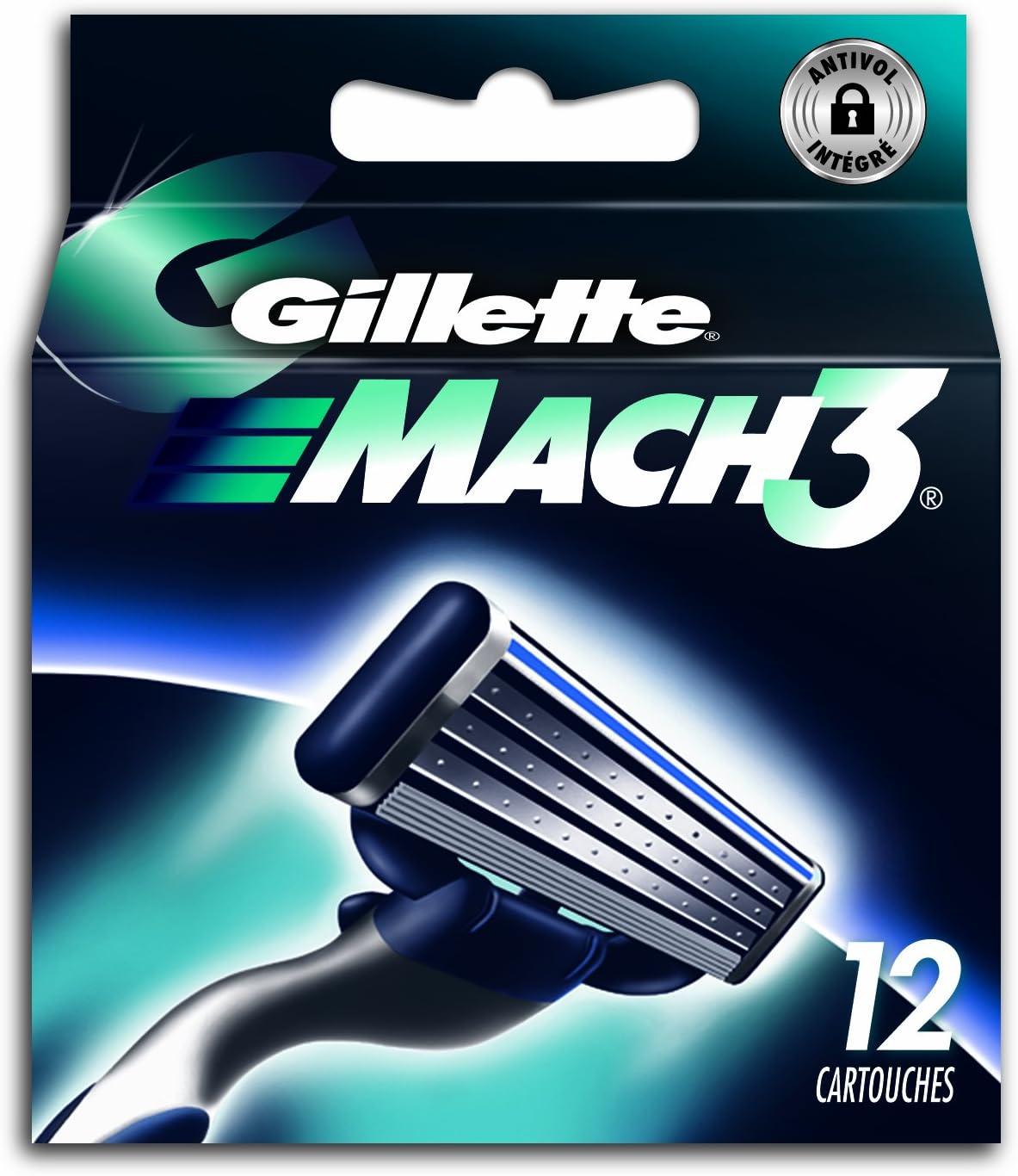 Gillette Mach 3 – Cuchillas de repuesto para afeitadora, juego de ...