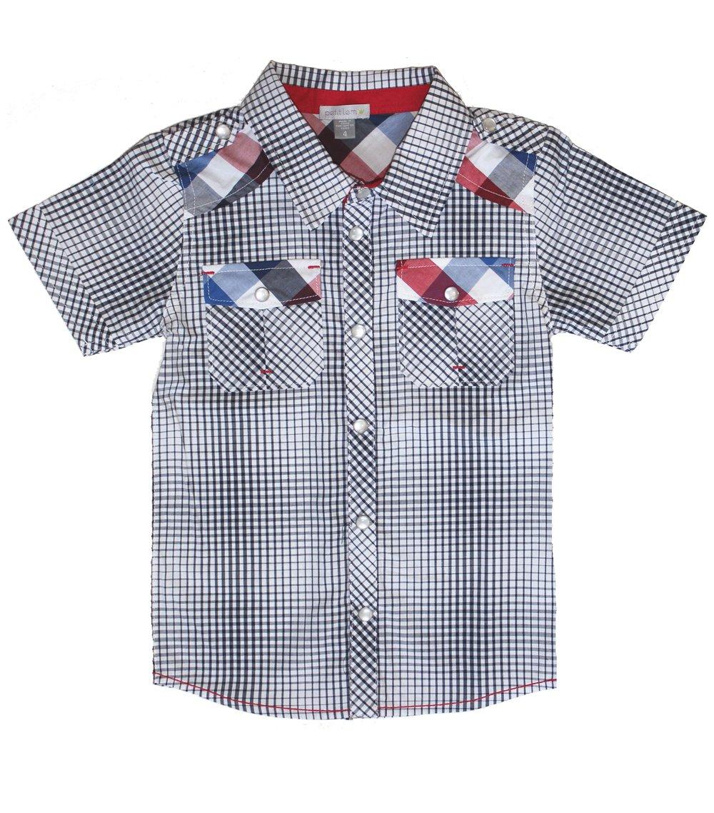 Petit Lem Little Boys' London Plaid Buttoned Shirt (c) 2