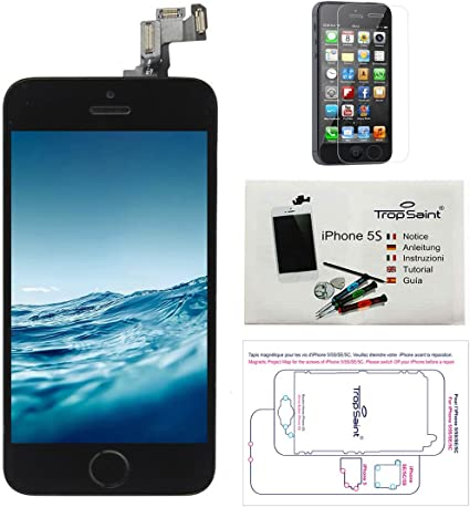 Trop Saint® Pantalla para iPhone 5S Negro: Amazon.es: Electrónica