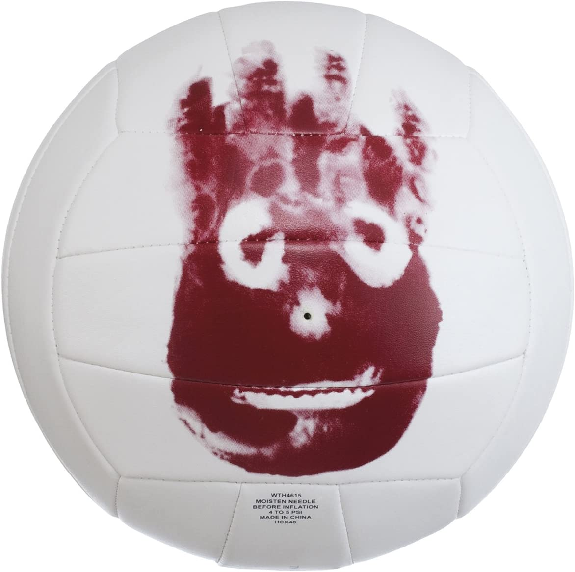 Amazon Com Sportsgear Us Wilson Mr Wilson Cast Away Movie 18 Panel Outdoor Training Volleyball Ball Sports Outdoors