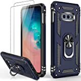 IKAZZ Galaxy S10e Case with Screen Protector,Military Grade Shockproof Cover Pass 16ft Drop Test with Magnetic Kickstand Car