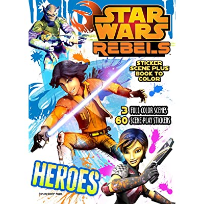 Bendon Publishing Star Wars Rebels Sticker Scene Plus Book to Color: Toys & Games