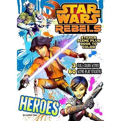 Bendon Publishing Star Wars Rebels Sticker Scene Plus Book to Color: Toys & Games