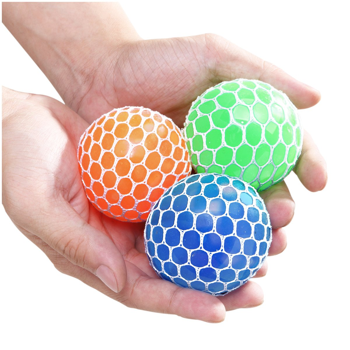 Obeda 3 Set Mesh Grape Stress Ball for Kids and Adults, Boys and Girls Hand & Wrist Sensory Tool to Vent Mood, Relieve Anxiety and Autism, Fun & Soft Novelty Pressure Ball