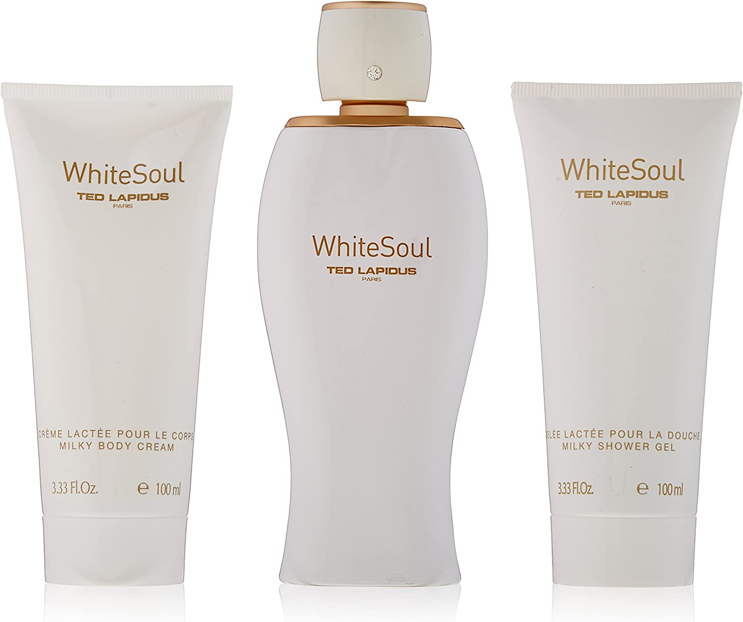 Ted Lapidus 3 Piece Gift Set for Women, White Soul by Ted Lapidus